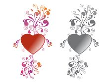Free Heart Floral Royalty Free Stock Photography - 20961347