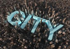 Free City Text Royalty Free Stock Photography - 20961357