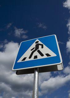 Free Crosswalk Road Sign Stock Images - 20961814