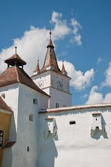 Fortified Church In Transylvania Royalty Free Stock Photos
