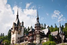 Free Architecture Of The Peles Castle In Romania Royalty Free Stock Photo - 20962105