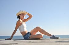Free Woman In Hat Stock Images - 20962464