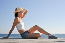 Free Woman In Hat Stock Photos - 20962483