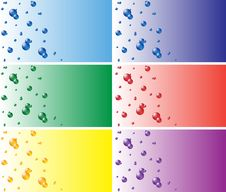 Free Color Business Cards With The Balls Royalty Free Stock Photos - 20962498