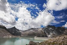 Dam Between Mountains Stock Image