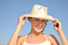 Free Woman In Hat Royalty Free Stock Photos - 20962758