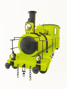 Free Green Old Steam Train Royalty Free Stock Photography - 20963367