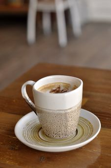 Free Table Coffee Cup Hot Cappuccino Stock Photography - 20963472
