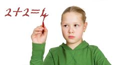 Free Schoolgirl With Red Marker In Hand Stock Image - 20963521