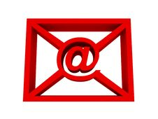 Free E-mail Red Concept Stock Photography - 20963692