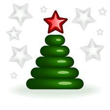 Free Stylized Christmas Tree Stock Photography - 20964292