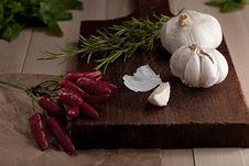 Free Hot Pepper, Garlic, Rosemary Stock Photography - 20964942