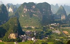 Free Aerial View Image Of Guilin Village Stock Image - 20964951