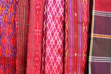 Free A Collection Of Thai Silk Cloths Royalty Free Stock Images - 20965029