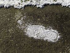 Free Snow Foot Print Royalty Free Stock Photography - 20965357