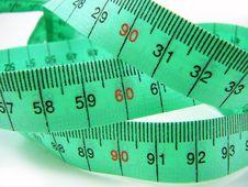 Free Tape Measure Focus On 90-60-90 Stock Image - 20965661