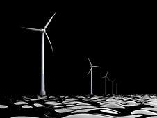 Free 3d Windmills Royalty Free Stock Photo - 20966205