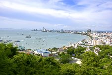 Free The Bird Eye View Of Pattaya City Royalty Free Stock Photography - 20966607