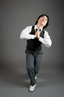 Free Asian Male Jazz Dancer Royalty Free Stock Photos - 20966718