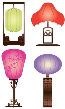 Free Chinese Antique Table Lamp Royalty Free Stock Image - 20966836
