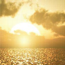 Free Beautiful Sunset Illustration Stock Photography - 20967652