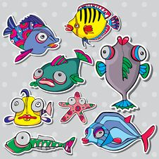 Free Sea Life Vector Set Royalty Free Stock Images - 20968299