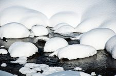 Free Snow And Ice Covered Creek Stock Images - 20968944