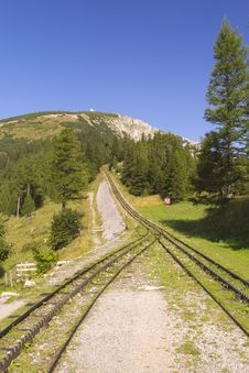 Free Mountain And Cogwheel Railway (vertically) Stock Photo - 20969740