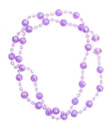 Free Purple Beads Isolated On White Royalty Free Stock Photo - 20969915