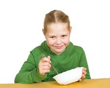 Free Girl Eats Isolated Stock Images - 20969924