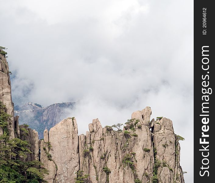 Cloudscape image of  Huangshan