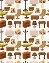 Free Cartoon Furniture Seamless Pattern Stock Images - 20973924