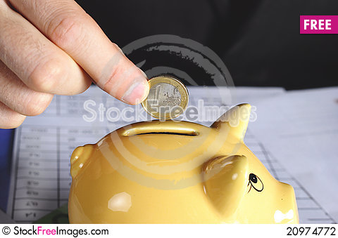 Free Hand And Coin Stock Photography - 20974772