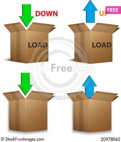 Free Download And Upload Boxes Stock Photography - 20978962