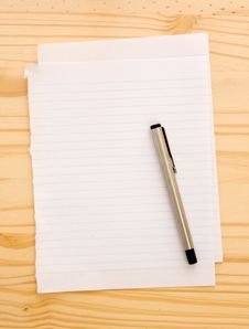 Free Blank Empty Paper With Pen Royalty Free Stock Image - 20970446