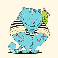 Free Cat Sailor Stock Photography - 20970562