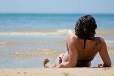 Free Woman On The Beach Stock Photos - 20970633