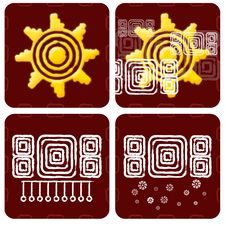 Free Weather Icon In Mayan Style Royalty Free Stock Image - 20971016