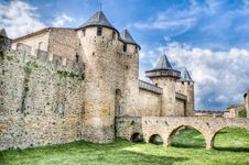 Chateau Comtal At Carcassonne, France Royalty Free Stock Image