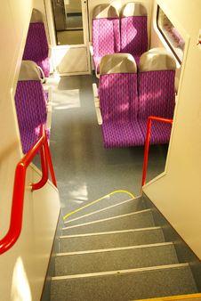 Train Interior Rail Car Stock Photography