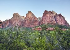 Free Three Patriarchs In Zion Canyon Royalty Free Stock Image - 20972876