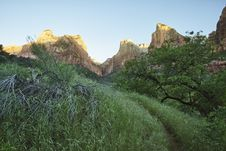 Free Three Patriarchs In Zion Canyon Royalty Free Stock Image - 20972896