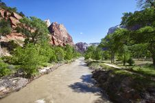 Free Muddy River In The Zion Canyon National Park, Utah Stock Photo - 20972950