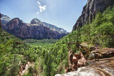 Free Valley In The Zion Canyon National Park, Utah Stock Images - 20973064