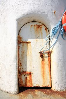 Free Old, Rusty Door In The Lightouse Royalty Free Stock Photos - 20973098