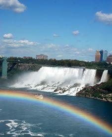 Rainbow Boat Stock Image