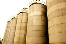 Silos And Housing Royalty Free Stock Photo
