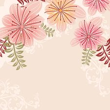 Free Floral Pastel Frame With Contour Flowers Stock Image - 20973611