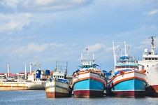 Free Fishery Boat Dock In Thailand Stock Images - 20973844