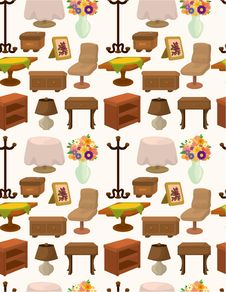 Free Cartoon Furniture Seamless Pattern Stock Images - 20973924